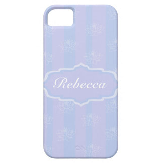 Baby Blue personalized delicate Lotus pattern iPhone 5 Case