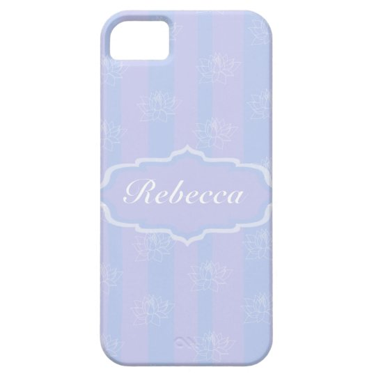 Baby Blue personalized delicate Lotus pattern iPhone SE/5/5s Case