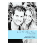 Baby blue Photo Save the Date Custom Announcements