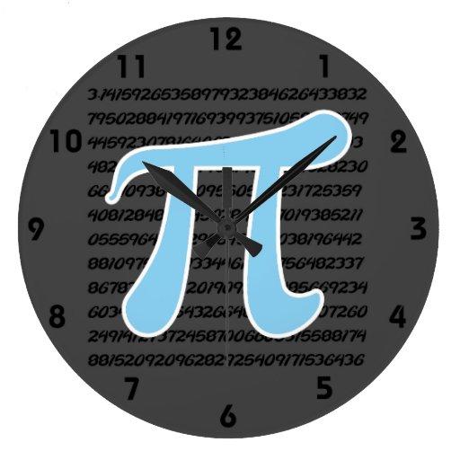 Baby Blue Pi Symbol Wall Clocks