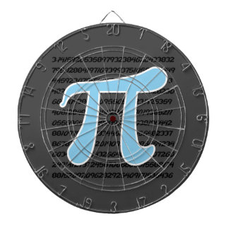 Baby Blue Pi Symbol Dart Board