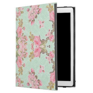 Baby Blue Pink Flower Abstract iPad Pro Case