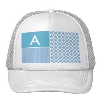 Baby Blue Polka Dot; Dots Mesh Hat