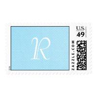 Baby Blue Polka Dot Monogram Stamp