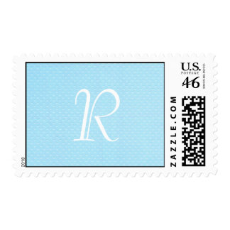 Baby Blue Polka Dot Monogram Stamp