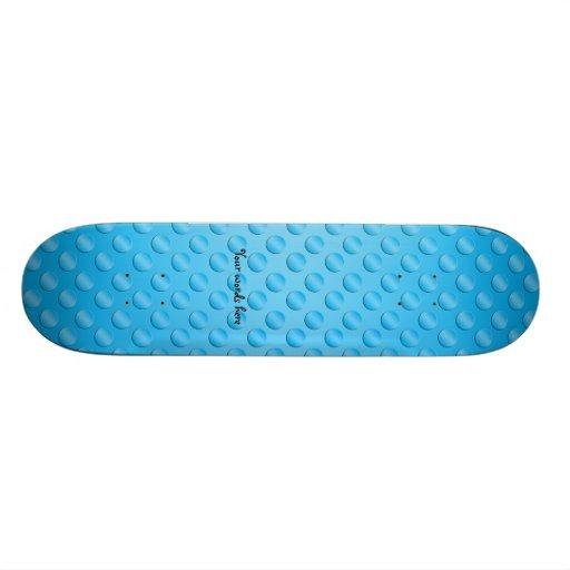 Baby blue polka dot pattern skate board decks