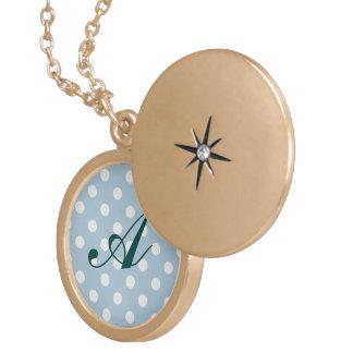 Baby blue, polka dot, white, customizable,cute,fun pendants