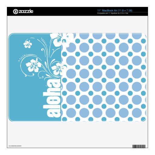 Baby Blue Polka Dots; Aloha Decal For The MacBook