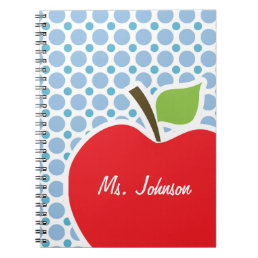 Baby Blue Polka Dots; Apple Notebook