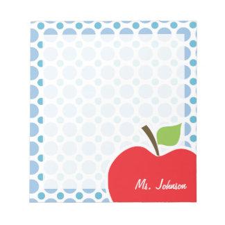 Baby Blue Polka Dots; Apple Notepad