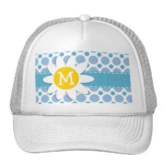 Baby Blue Polka Dots; Daisy Trucker Hats