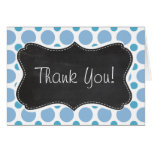 Baby Blue Polka Dots; Vintage Chalkboard Greeting Cards