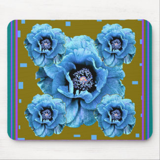 Baby Blue Poppies gifts by sharles Mousepad