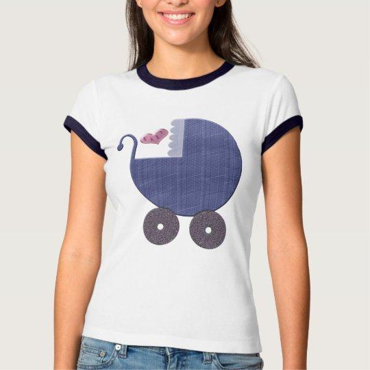 Baby Blue Pram Art T-Shirt