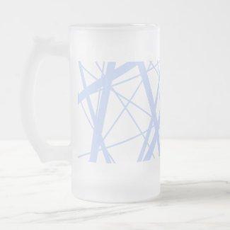 Baby Blue Random Stripes mug