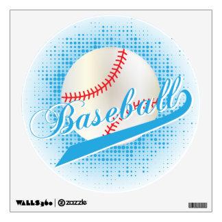 Baby Blue Retro Baseball Style Wall Sticker