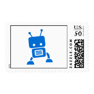Baby Blue Robot Stamps
