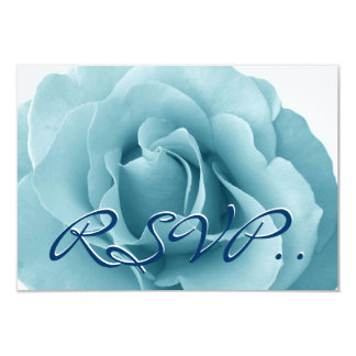 Baby Blue Rose and White Wedding Template Card