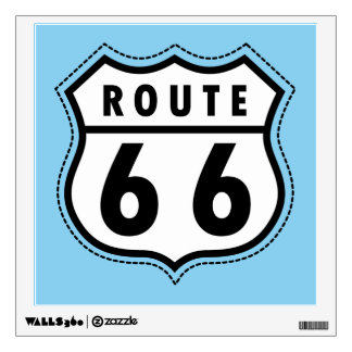Baby Blue Route 66 sign Room Stickers