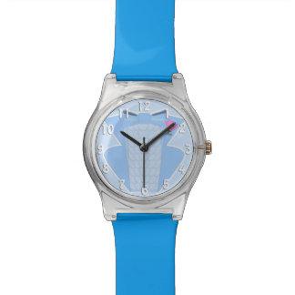 Baby Blue Ruffled Seventies Prom Tuxedo Watch