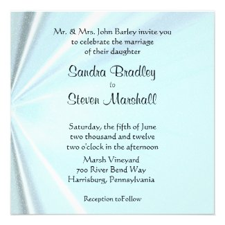Baby Blue Satin Wedding Invitations