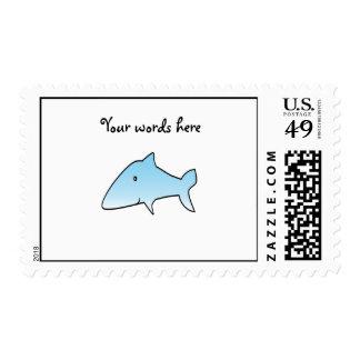 Baby blue shark postage