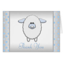 Baby Blue Sheep Thank You Cards