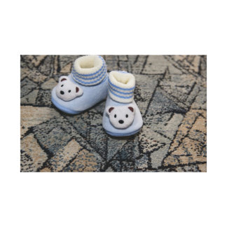 Baby blue shoes gallery wrap canvas