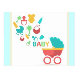 Baby Blue Shower Invite Postcard