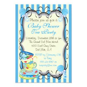 Victorian baby shower invitations zazzle baby blue shower victorian tea party invitation filmwisefo
