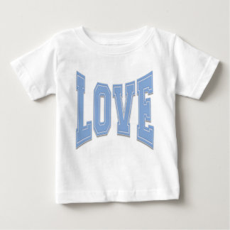 Baby Blue Simple Love Just Love Baby T-Shirt