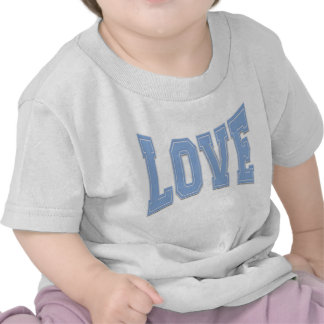 Baby Blue Simple Love Just Love T-shirts