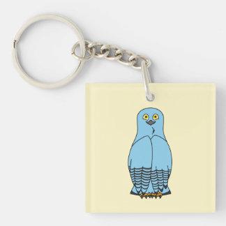 Baby Blue Snow Owl Keychain