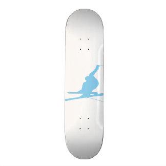 Baby Blue Snow Skiing Skateboard Deck