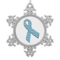 Baby Blue Snowflake Pewter Christmas Ornament