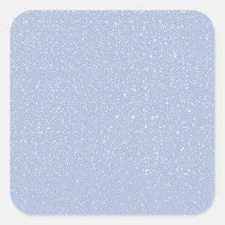 Baby Blue Snowy Warm Winter Wonderland Square Sticker