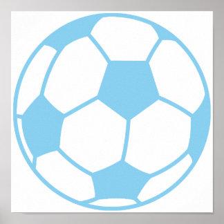 Baby Blue Soccer Ball Print