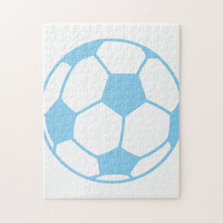 Baby Blue Soccer Ball Puzzles