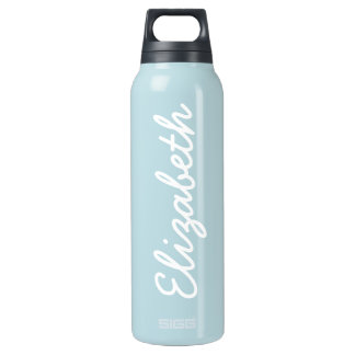 Baby Blue Solid Color Insulated Water Bottle