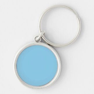 Baby Blue Solid Color Key Chain