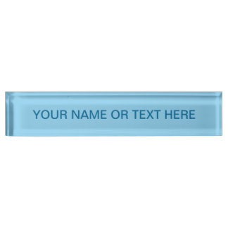 Baby Blue Solid Color Nameplate