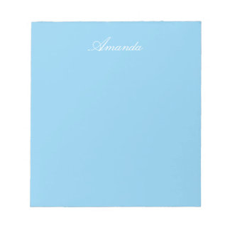 Baby Blue Solid Color Notepad