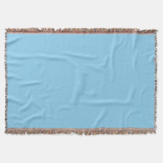 Baby Blue Solid Color Throw