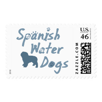 Baby Blue Spanish Water Dog Postage Stamps