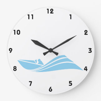 Baby Blue Speed Boat Clock