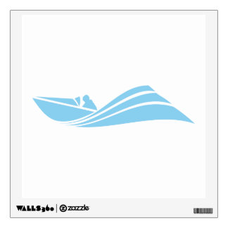 Baby Blue Speed Boat Wall Decal