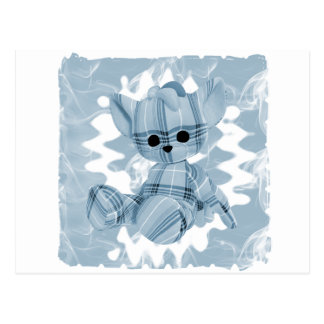 Baby Blue Spiral Smoke Teddy Bear Postcard