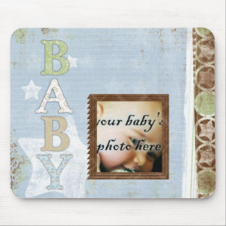 Baby Blue Stars Mousepad Mouse Pad