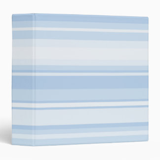 Baby blue stripes 3 ring binder