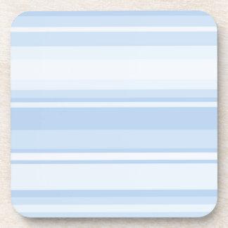 Baby blue stripes drink coaster